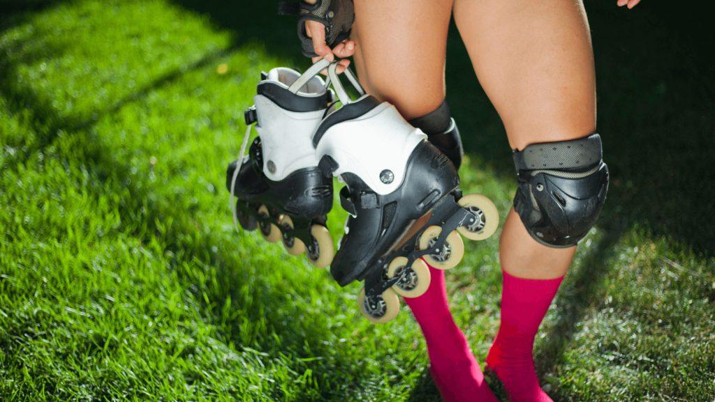 roller skate on grass
