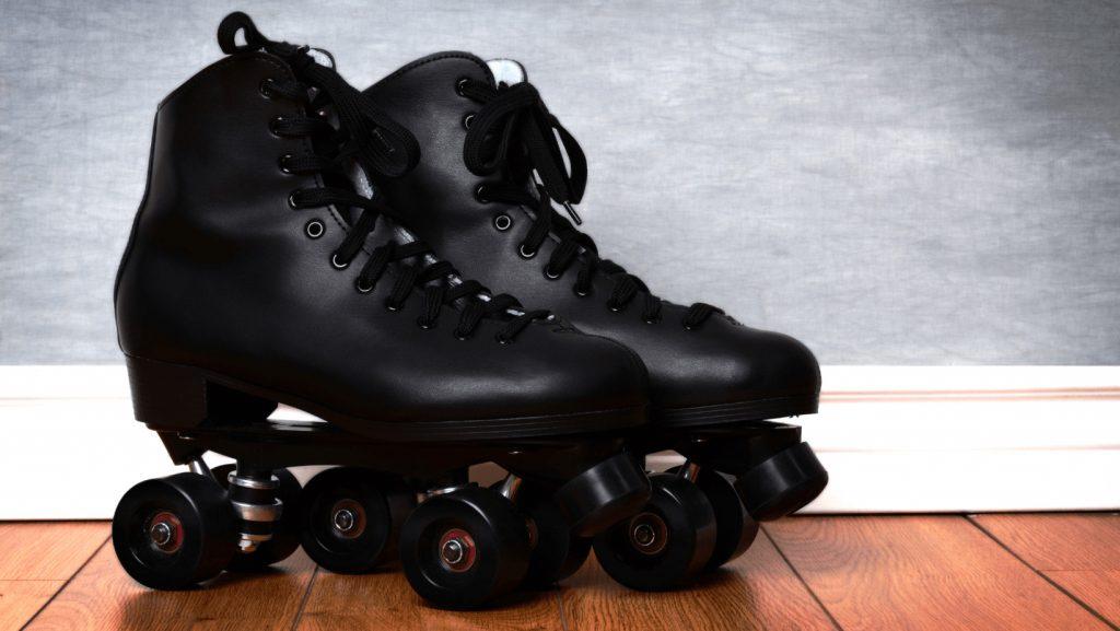 roller skate on wood