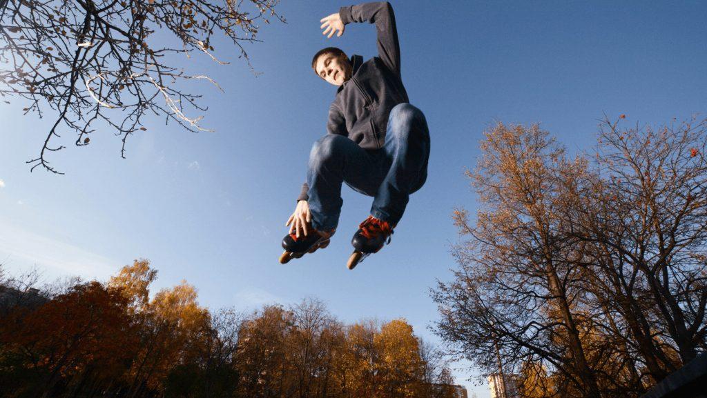 Jump on Roller Skates